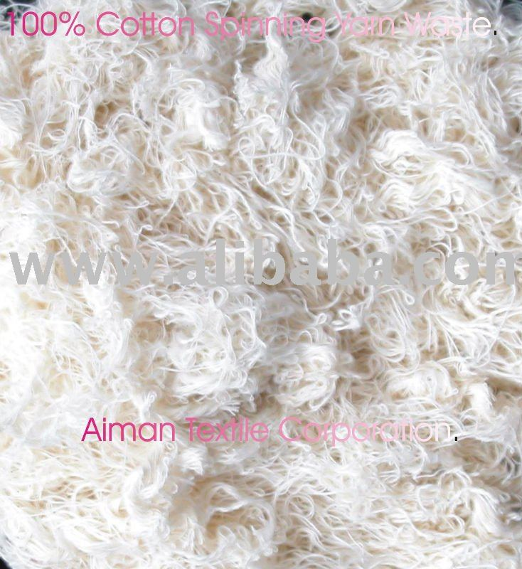COTTON WASTE YARN WASTE ROVING YARN WASTE CUTTING CLIPS HOSIERY RAGS