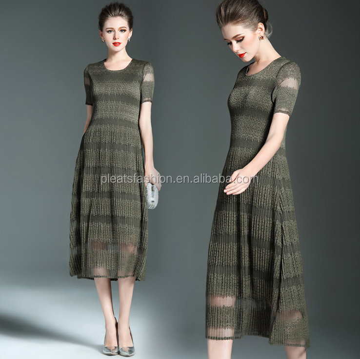 2017 spring season new fashion eurpean stylish alibaba china wholesale pleated <strong>dress</strong>
