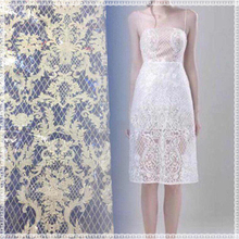 New fashion high quality bridal lace fabric wholesale white guipure fabric lace border