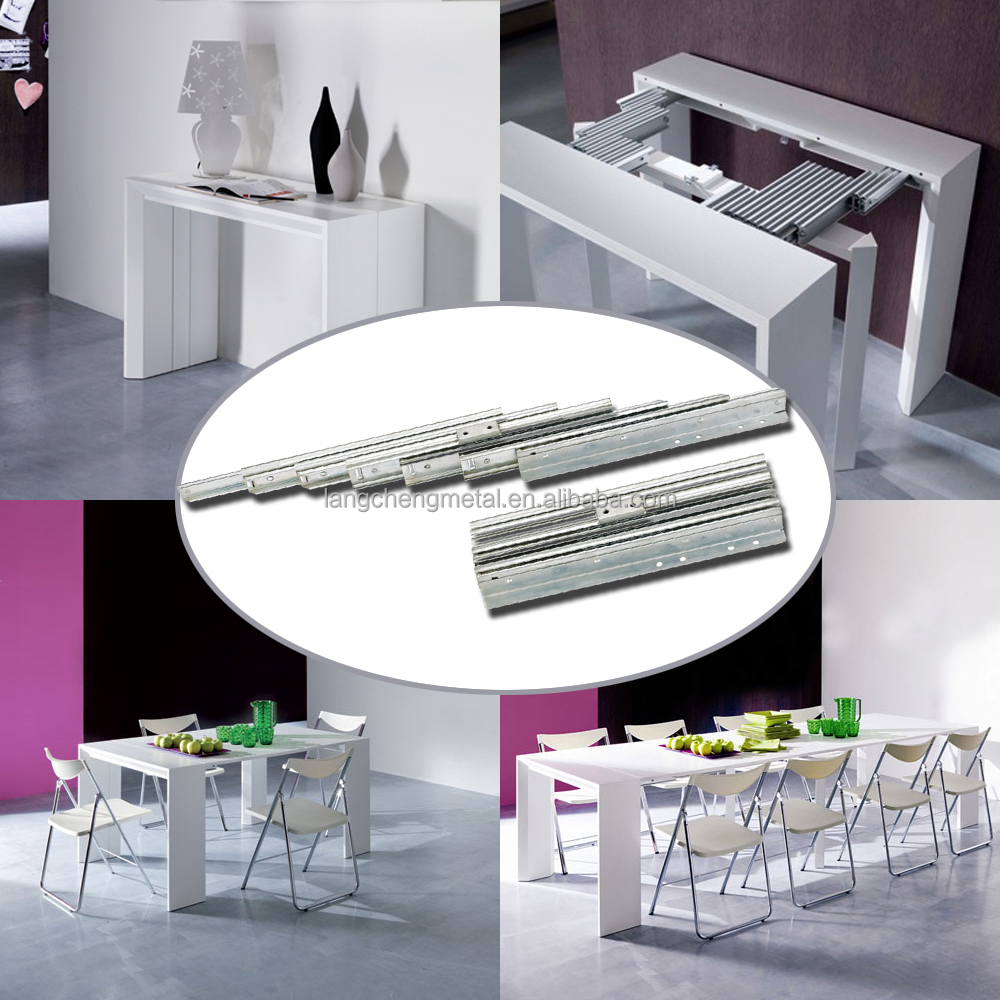 Multi Section Folding Table Channel (extension table mechanism)