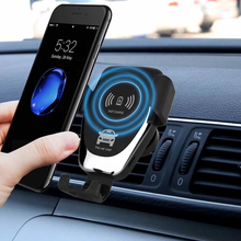 Qi Wireless Gravity Car Charger 10W Air Vent Mount Q12 Fast Charge Car <strong>Phone</strong> <strong>Holder</strong> for iPhone X/Xs/ 8/ 8Plus