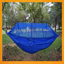Outdoor New Ultralight Portable Camping Parachute Nylon Hammocks With Mosquito Net for Camping Tent Factory 2017 GBEY-854