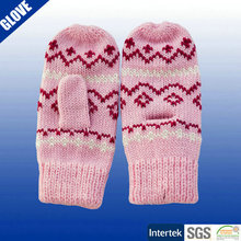 Acrylic winter knitted mittens for adults