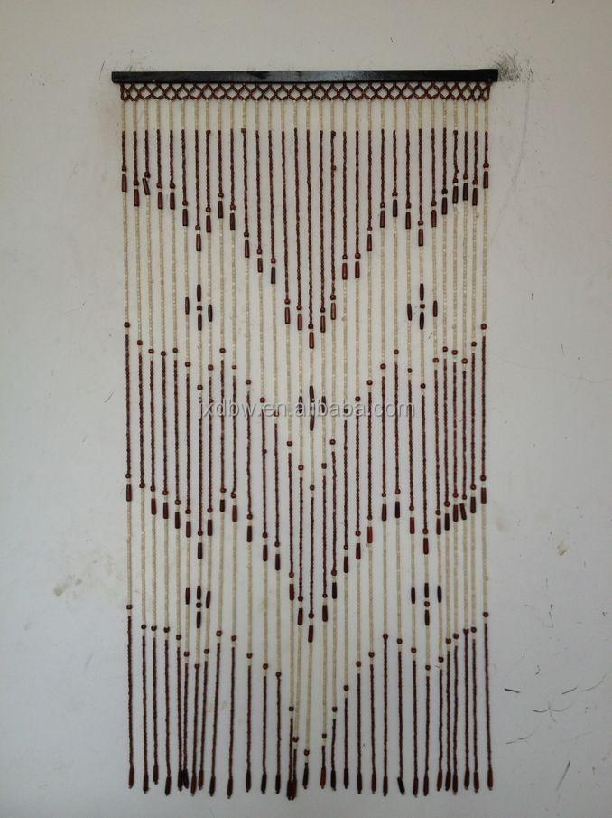 Hot vente en bois suspendus perles rideaux de porte autres d cors maison id de produit - Rideaux en perles de bois ...