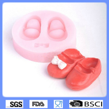 Promotion baby soap molds,Silicone children shoes soap mold