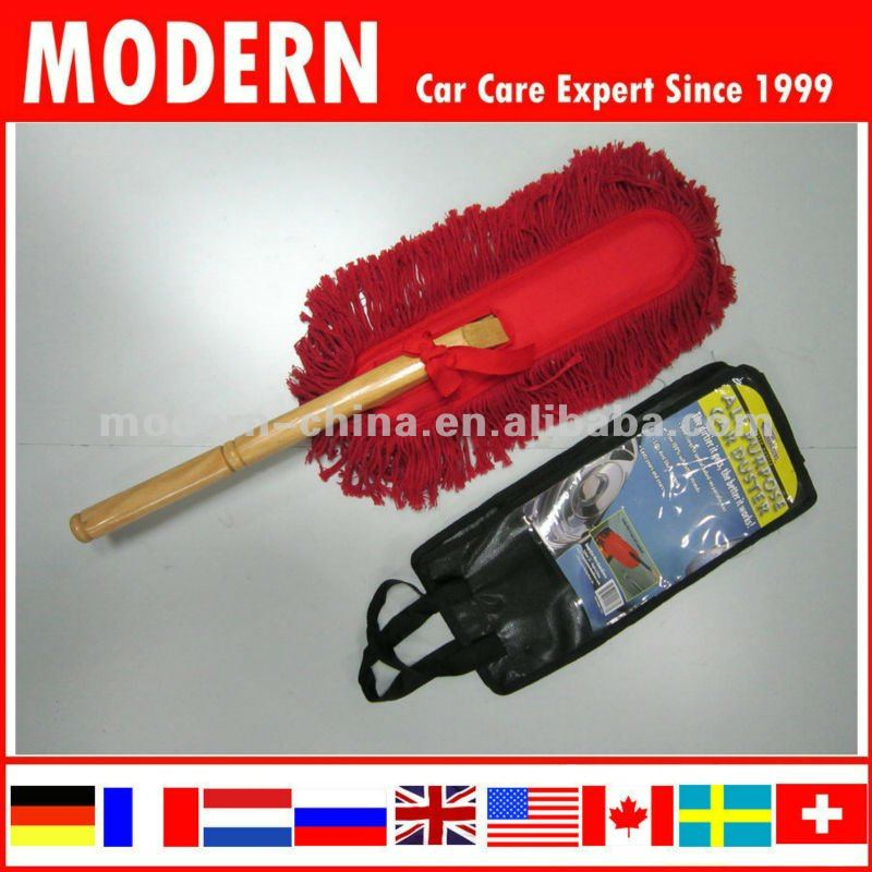 Hot Selling Car Wood Handle Cotton Duster with long handle