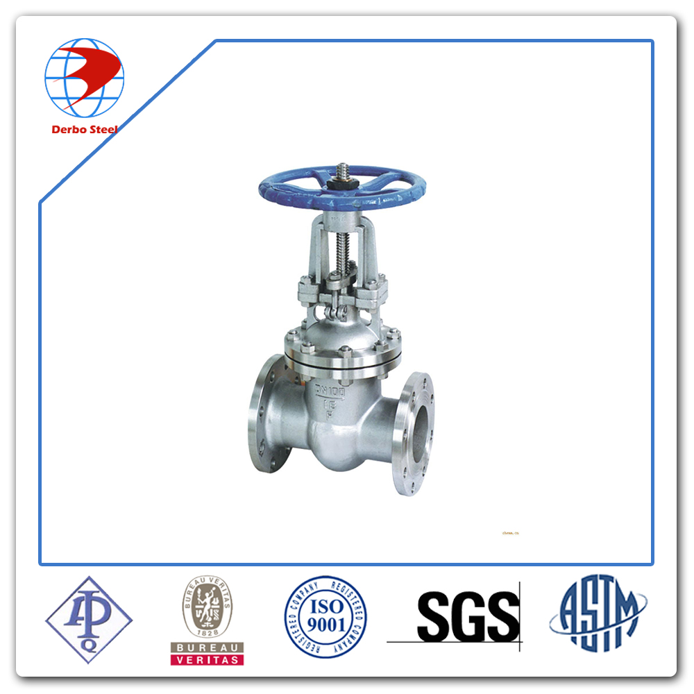 API 600 Stainless Steel ASTM A351 CF3M Hand Wheel DN100 Flanged End Gate Valve