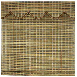 Bordered in finished bamboo curtain/bamboo waterproof shower blinds