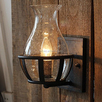 New arrived industrial style glass wall lamp E14 holder wall light bubble glass lighting