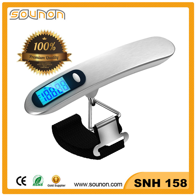 2016 Sounon Hot Selling Luggage Digital Pocket <strong>Scale</strong>, Portable Luggage <strong>Scale</strong> With Strape