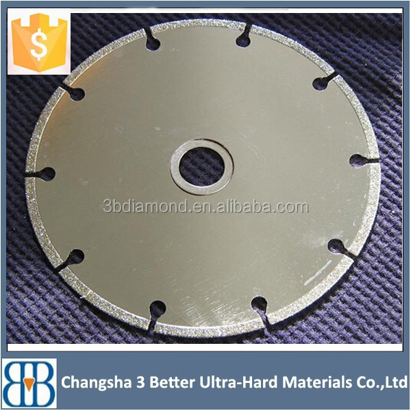 Electroplated Diamond Saw Blade for Chip-Free Cutting Marble, Cutting Stone, Ceramic Tile, Porcelain