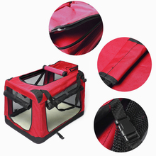 Pet Carrier Bag Pet Dog Carrier Cage For Good Air Circulation Through The Grids