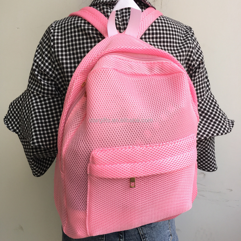 China Vendor Custom Promotional Pink Teenage Girl School Bag With Silver Glitter