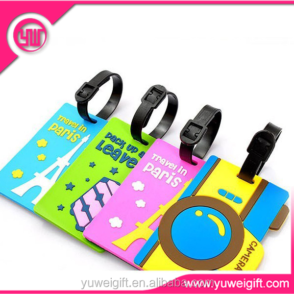 Personalize name tags soft pvc name ID tag wholesales Rubber Luggage Tags Travel accessories