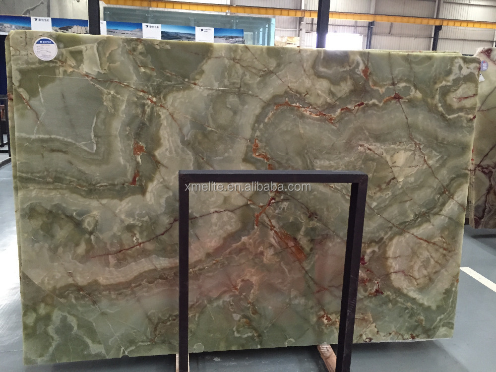 Pakistan Green Onyx Slab Vanity Top