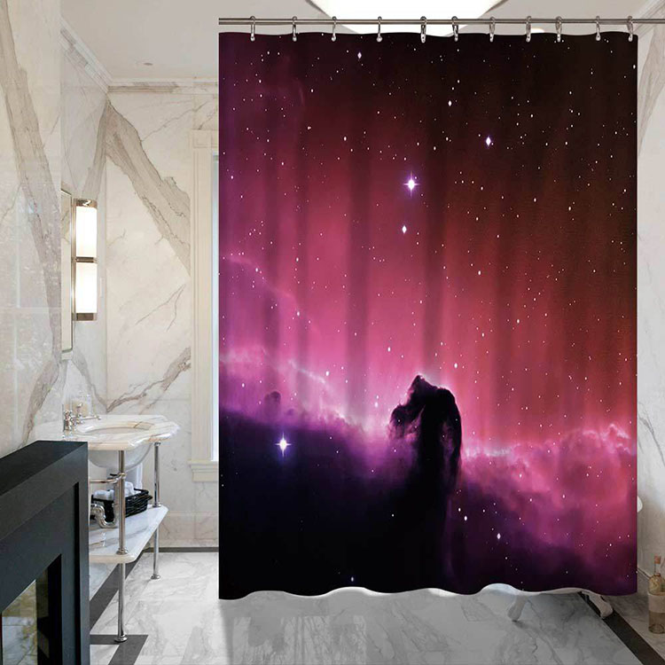 Personality 3D Digital Printing Night Starry Sky Home Furnishing Custom Shower Curtain