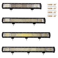 2017 factory direct sell 23 inch 24 inch offroad 162w 3 row led light bar for snowmobile