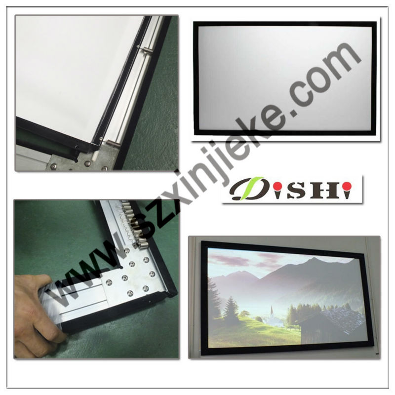 Picture frame 150 inch projection screen