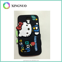BalckSilicone rubber Hello Kitty phone case for samsung 9200