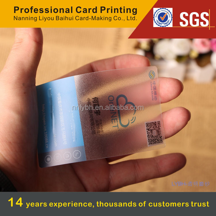 China printing house for malaysia market transparent irregular shaped business card