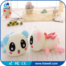 Mini musical animal stuffed toy colorful light grow panda plush toy