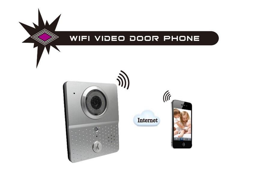 Wholesale wireless video door phone with remote viewing and answering via app on IOS/Android smartphone and alarm function
