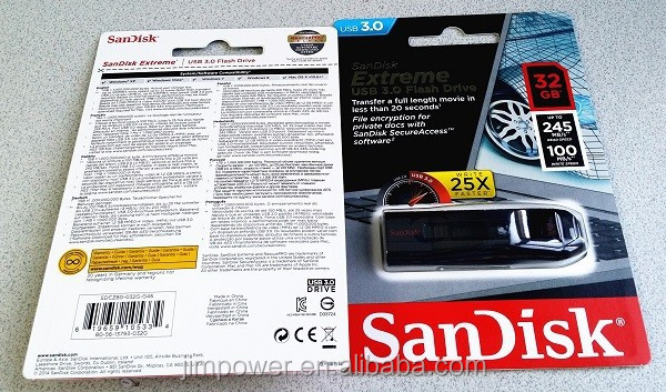 SDCZ80-032G-X46 SanDisk 32GB Extreme USB 3.0 Flash Drive