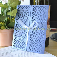 sell wedding invitation cards, deep blue, red ,green filigree laser cut blank wedding invitation cards