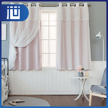 Standard size fancy office cubicle lace curtains valances for living room