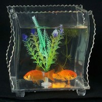 mini tabletop acrylic fish tank aquariums