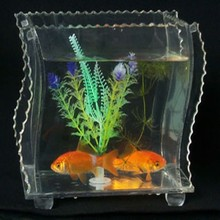 officer home decoration mini tabletop acrylic fish tank aquariums