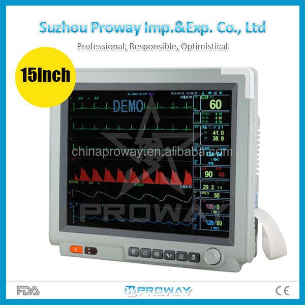 CE&FDA Approved PPM-G3150 Wireless LCD Medical Patient Monitor Device with Built-in Thermal Printer