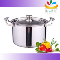 Tri-ply stainless steel high qaulity nonstick soup pot with lid
