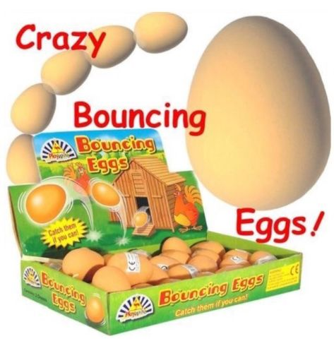 Bouncy Balls Realistic Fake Rubber Bouncing Eggs
