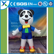 Discount professional giant inflatable panda model,inflatable panda costume