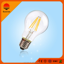 China Supplies A60 6W LED Filament Bulb RoHS light