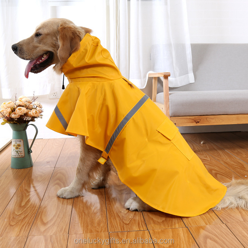 Pet Product Polyester Pet Clothes Of Dog Waterproof Dog Clothes Comfortable Dog Raincoat