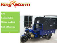 Safety and heavy loading 300cc van cargo tricycle