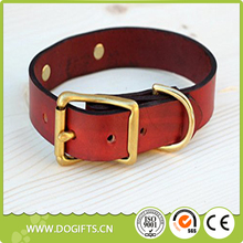 Special and Luxurious Magnus Leather Dog Collar with ID Plate Dog Leashes and Collars Dogift0622