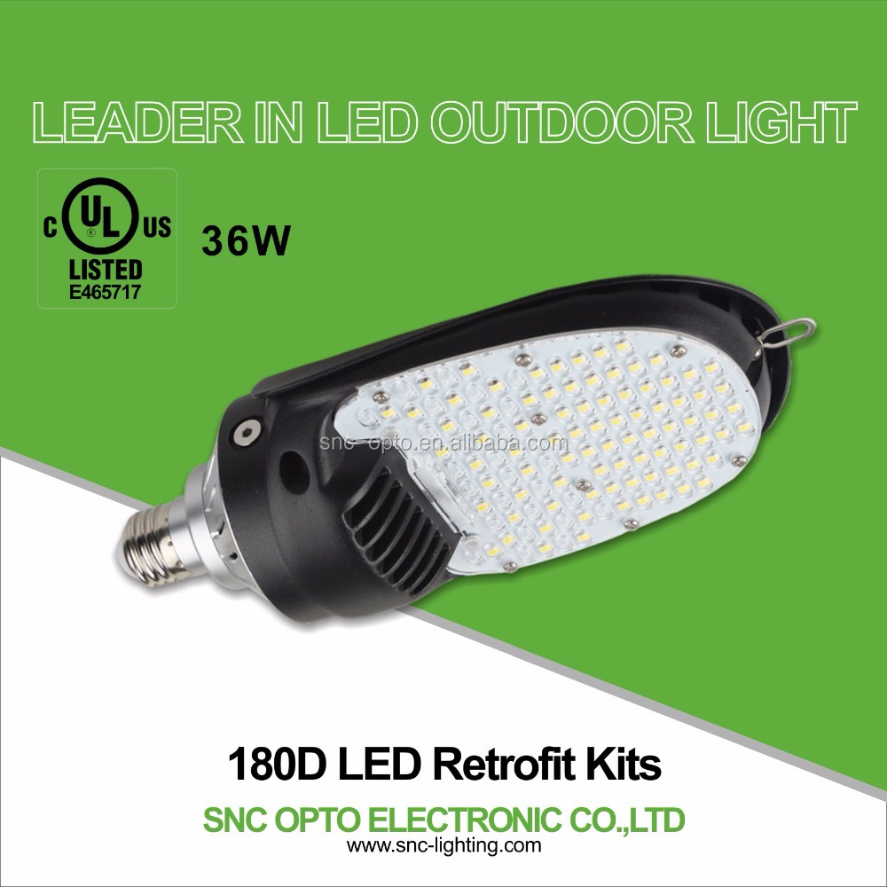 SNC hot sale new high luminous 36w led retrofit kits for outdoor parking lot with magnesium housing