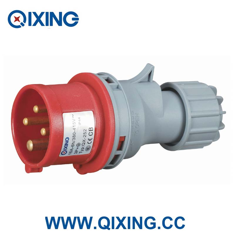 single phase 16a 32a 63a 125a 3-pin 4-pin 5-pin 220v industrial plug and socket