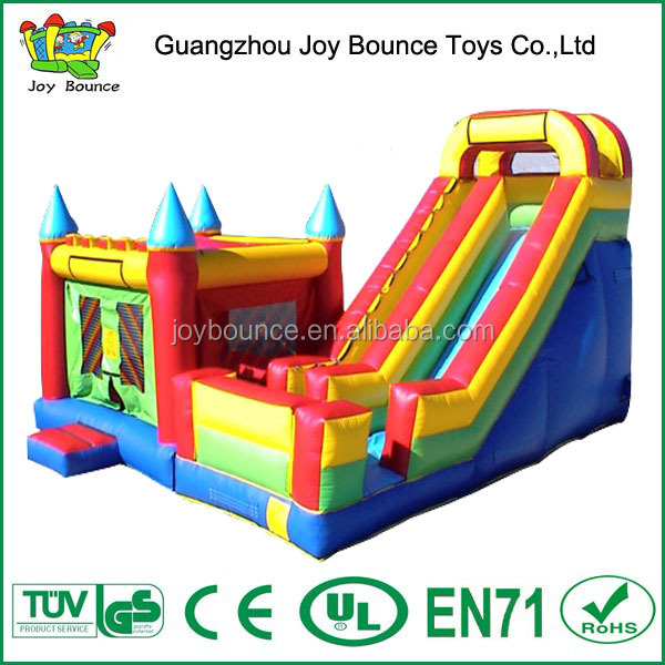 pvc material bouncing castles slide inflatable combo jumping bouncy with slide
