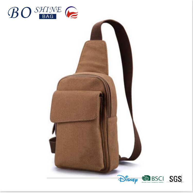 Dongguan BOSHINE Factory promotional canvas shoulder bag for men