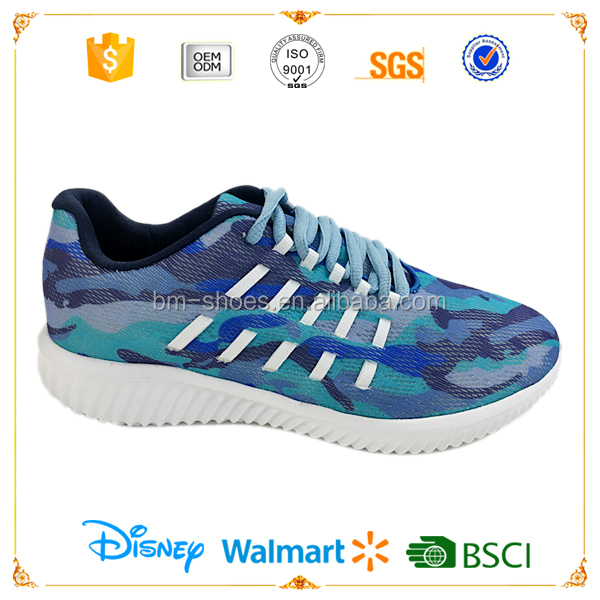 Camouflage sport jogging shoes women running shoes