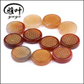Dyed Carnelian Engraved Flower of Life Round Palm Stone
