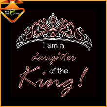 I am a daughter of King Crown Hot Fix Motif Rhinestone