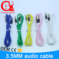 new arrival nylon braided rca to rca 3.5mm jack audio cable