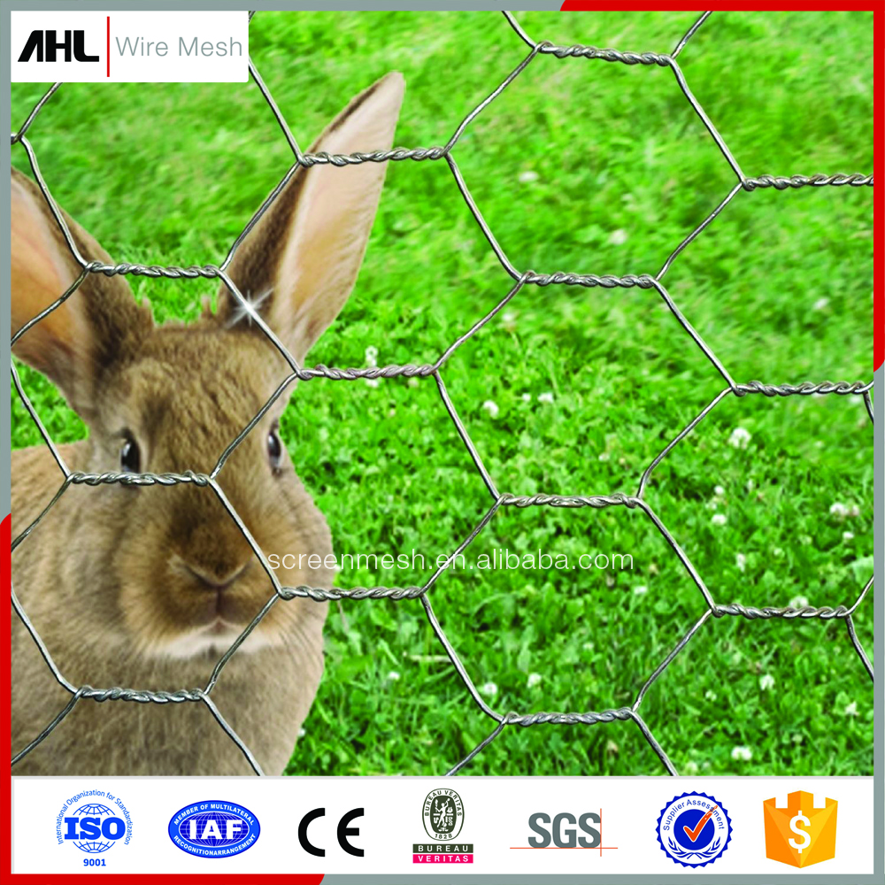 "Small Hole Rabbit Cages Mesh Run Fine 1/2"" Hexagonal Hex Chicken Wire Netting 3/4 Inches Poultry Fencing"