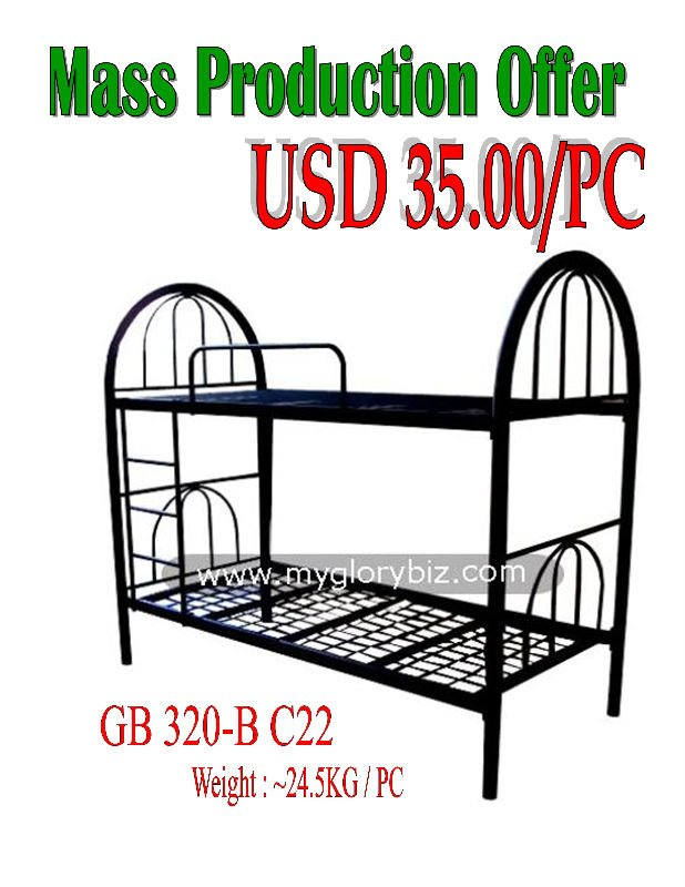 Metal Bunk Bed for Bedroom Furniture Home