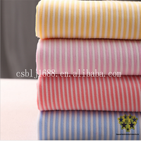 Yellow Pink Red Blue White Stripe Microfiber Fabric Cloth For Home Using China Supplier